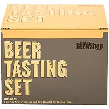 Brooklyn Brew Shop Beer Tasting 4 Piece Set, 5 oz, Clear