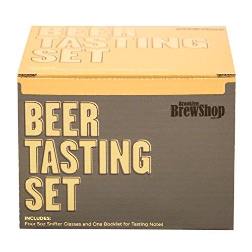 Brooklyn Brew Shop Beer Tasting 4 Piece Set, 5 oz, Clear