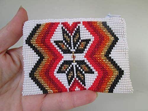 Amazon.com: Star white black gold red hand beaded glass seed ...