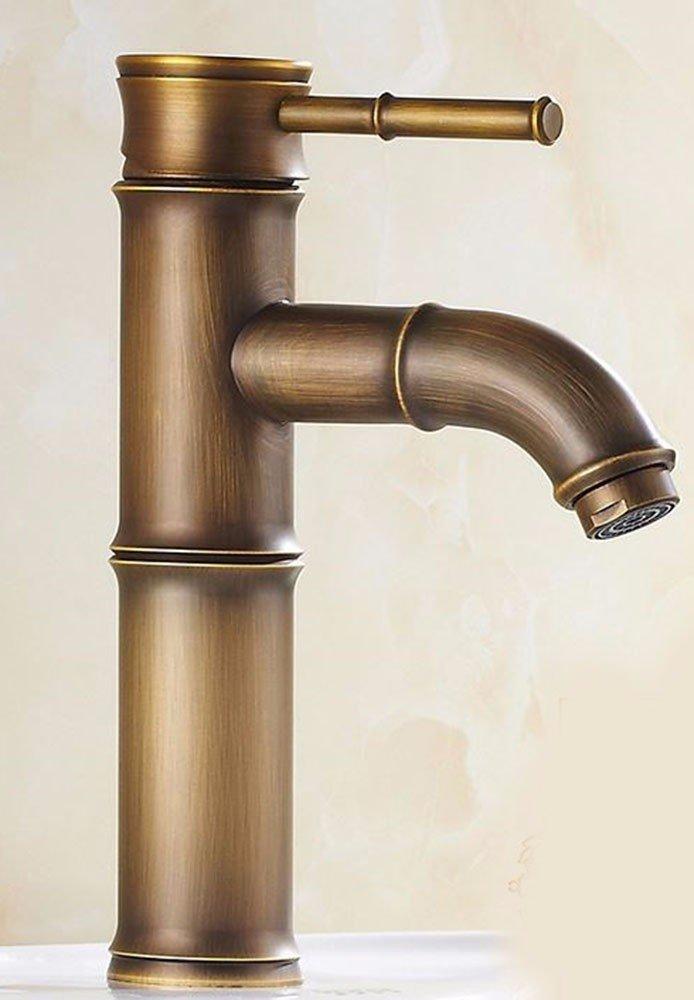 17 LHbox Basin Mixer Tap Bathroom Sink Faucet European retro hair style, copper, Single Hole basin, hot & cold water faucet 13
