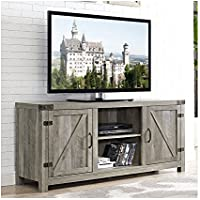 Industrial 58 TV Stand - Antique Rustic Look - Media Storage - Vintage Design (Gray Wash)