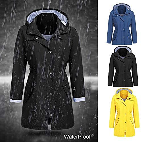 Donna Autunno Nero Felpa Cappuccio ❤ Parka Impermeabile Outwear Moda Cappotto Inverno Con Antivento Donna Vicgrey Giacca OTfxwTt