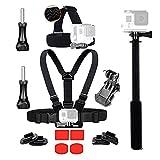 Action Camera Accessories Kit Head Strap Chest Strap Selfie Stick for GoPro Hero6 5 Black Hero 4 Silver AKASO EK7000 APEMAN 4K SOOCOO Gitup Git2 Wifi Sport Camera