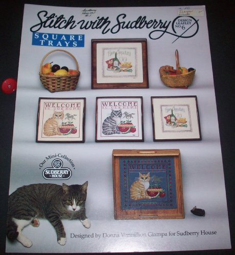 Stitch with Sudberry Square Trays (Design Leaflet No. 6) -