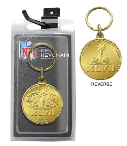 NFL Super Bowl XLVII Flip Coin Keychain - Nfl Coin Flip