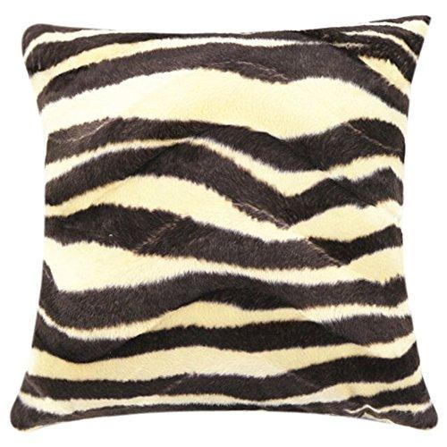Balakie Throw Pillow Case, Animal Zebra Leopard Print Pillowcase Sofa Waist Cushion Cover Home Decor Square Pillow Slip(D,45cmX45cm /18