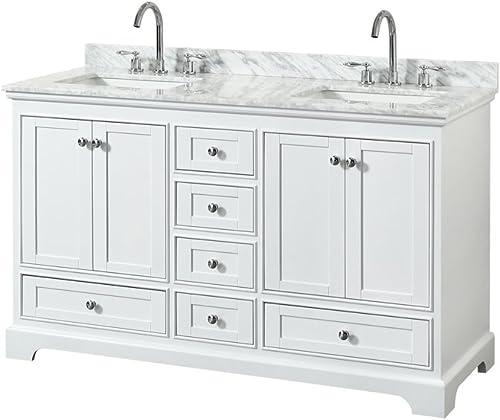 Wyndham Collection Deborah 60 inch Double Bathroom Vanity