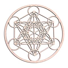 HOW IS OUR WALL ART DIFFERENT? Our symbol is thicker and made with higher quality wood. We're excited to announce that our Metatron's Cube Sacred Symbol is made with improved, durable wood quality!!! MEANINGS: The Metatron's Cube represents ...