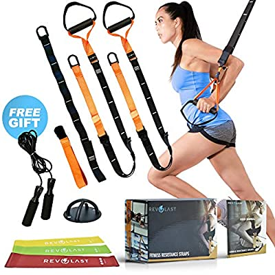 Revolast Resistance Straps Trainer - Exercise Equipment Straps - Home Workout Equipment - Bodyweight Resistance Training Straps - Home Fitness Equipment Resistance Bands Bundle Home Gym Workout Set