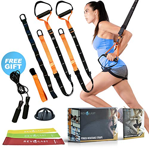 Revolast Resistance Straps Trainer – Exercise Equipment Straps – Home Workout Equipment – Bodyweight Resistance Training Straps – Home Fitness Equipment Resistance Bands Bundle Home Gym Workout Set
