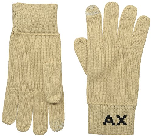 Armani Exchange Men's Knit Logo Gloves, Incense, - Logo Armani Exchange