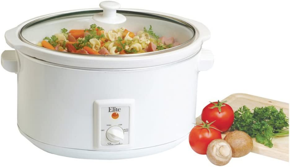 Maxi-Matic MST-800VW Elite Cuisine Large 8-1/2-Quart Slow Cooker, White