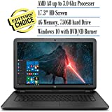 2016 HP 17.3 Inch Notebook Laptop (AMD A8-7050 Processor up to 3.0GHz, 4GB RAM, 750GB Hard Drive, DVD/CD Drive, HD Webcam, Windows 10 Home) (Certified Refurbished)