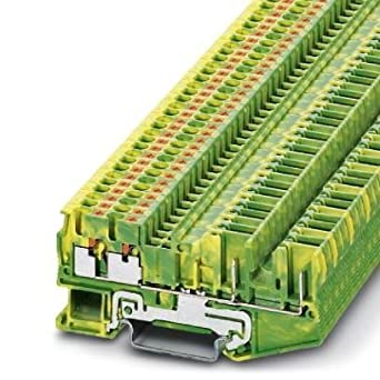 DIN Rail Terminal Blocks PT2, 5-QUATTRO/2P-PE: Amazon com