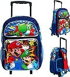 Ruz Super Mario 16' Large Rolling School Backpack Boy's Book Bag