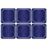 PIMPERNEL Croc - Blue Coasters square set of 6