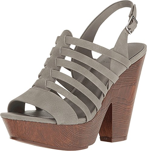 G by GUESS Womens Seany2 Fabric Open Toe Casual Ankle Strap, Grey, Size 6.5 (Strap Ankle Guess Sandals)