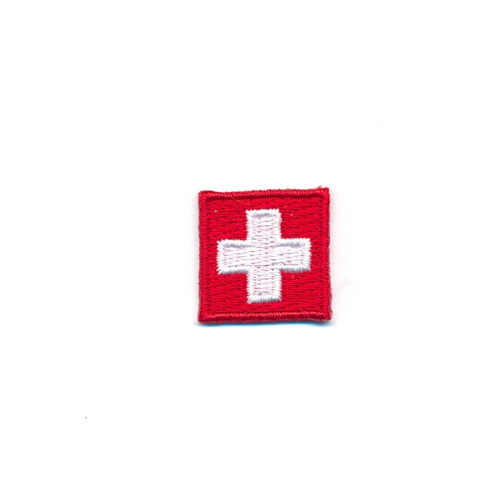 Mini 20/x 20/m Swiss Flag Switzerland Flag Iron-on Patch CH