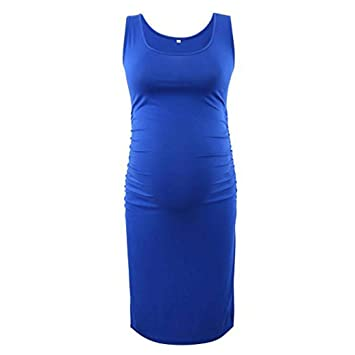 0dd02d8fcb5 Image Unavailable. Image not available for. Color  Women s Maternity Dress  Plus Size Casual Side Ruched ...
