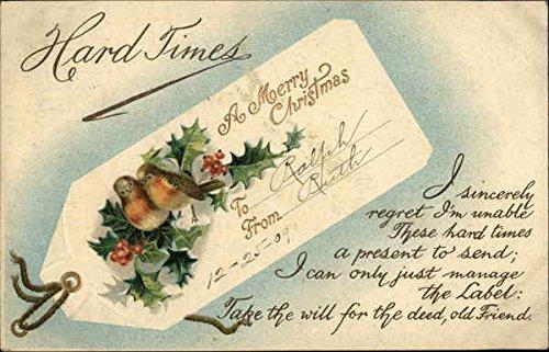Comical Christmas Note Apology Original Vintage -