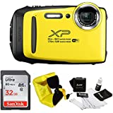 FujiFilm FinePix XP130 Rugged Waterproof WiFi Digital Camera + Focus Floating Strap & Sony 32GB Card Bundle (Yellow)