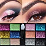 RowNumber1 Novelty Partical Eye Eyeliner Eyebrows 12 Color Eyeshadow Palette