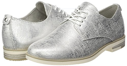 Tozzi 23202 grey lt Para Marco Zapatos Metal Oxford Mujer Gris Cordones De 7fwd6gq