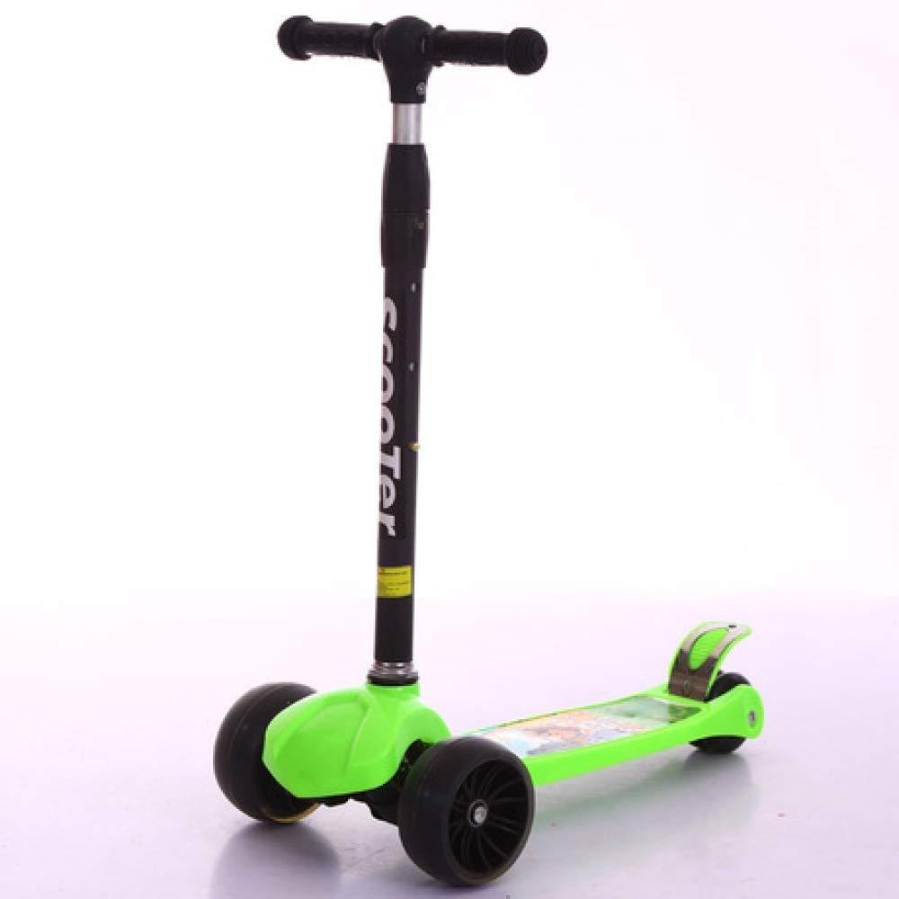C XHLJ Kinderroller, Blinkendes Auto des Rollers, Vier Räder Schwingend, Mit Musik, Faltend, 2-16 Jahre Alt (Farbe   C)
