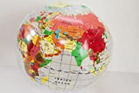 Transparent 16 Inch Inflatable World Globe