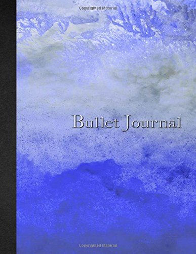 Download Bullet Journal: 8.5 x 11 - 160 pages - Watercolor Blue - Evening - Zen - Notebook Dotted Grid - soft cover glossy finish - journal, planner, organizer, dot point, sketch, calligraphy pdf epub