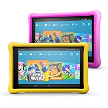 """Fire HD 10 Kids Edition Tablet 2-Pack, 10.1"""" 1080p Full HD Display, 32 GB, Pink/Yellow Kid-Proof Case"""