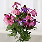 Factory-Direct-Craft-Colorful-Pink-and-Purple-Poly-Silk-Coneflower-Floral-Bush-for-Indoor-Decor