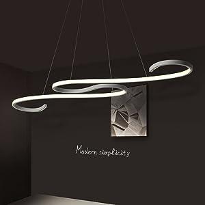 - Rivi - Moderna lámpara en suspensión con bombillas LED. Artículo artesanal, realizado en acrílico, perfecto para restaurantes, oficinas, salones, dormitorios, cafeterías y bares
