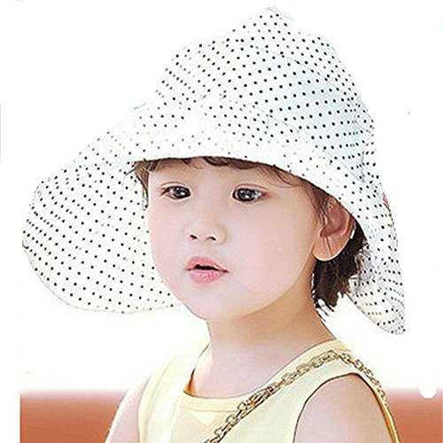 ac9f8c9d WENDYWU Baby & Toddler Flap Sun Protection Swim Summer Hat Baby Sun Hat  (White) - Buy Online in Oman. | Apparel Products in Oman - See Prices, ...