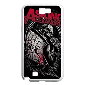 Chinese Asking Alexandria Customized Case for Samsung Galaxy Note 2 N7100,diy Chinese Asking Alexandria Phone Case