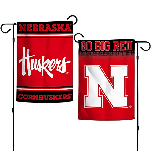 Elite Fan Shop Nebraska Cornhuskers Garden Flag 12.5