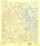 YellowMaps Tsala Apopka FL topo map, 1:62500 Scale, 15 X 15 Minute, Historical, 1895, Updated 1917, 19.8 x 17 in - Paper