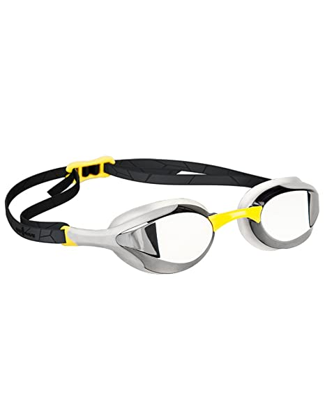 70b2147c00 Amazon.com   Mad Wave Alien Mirrored Goggles - Yellow   Sports ...