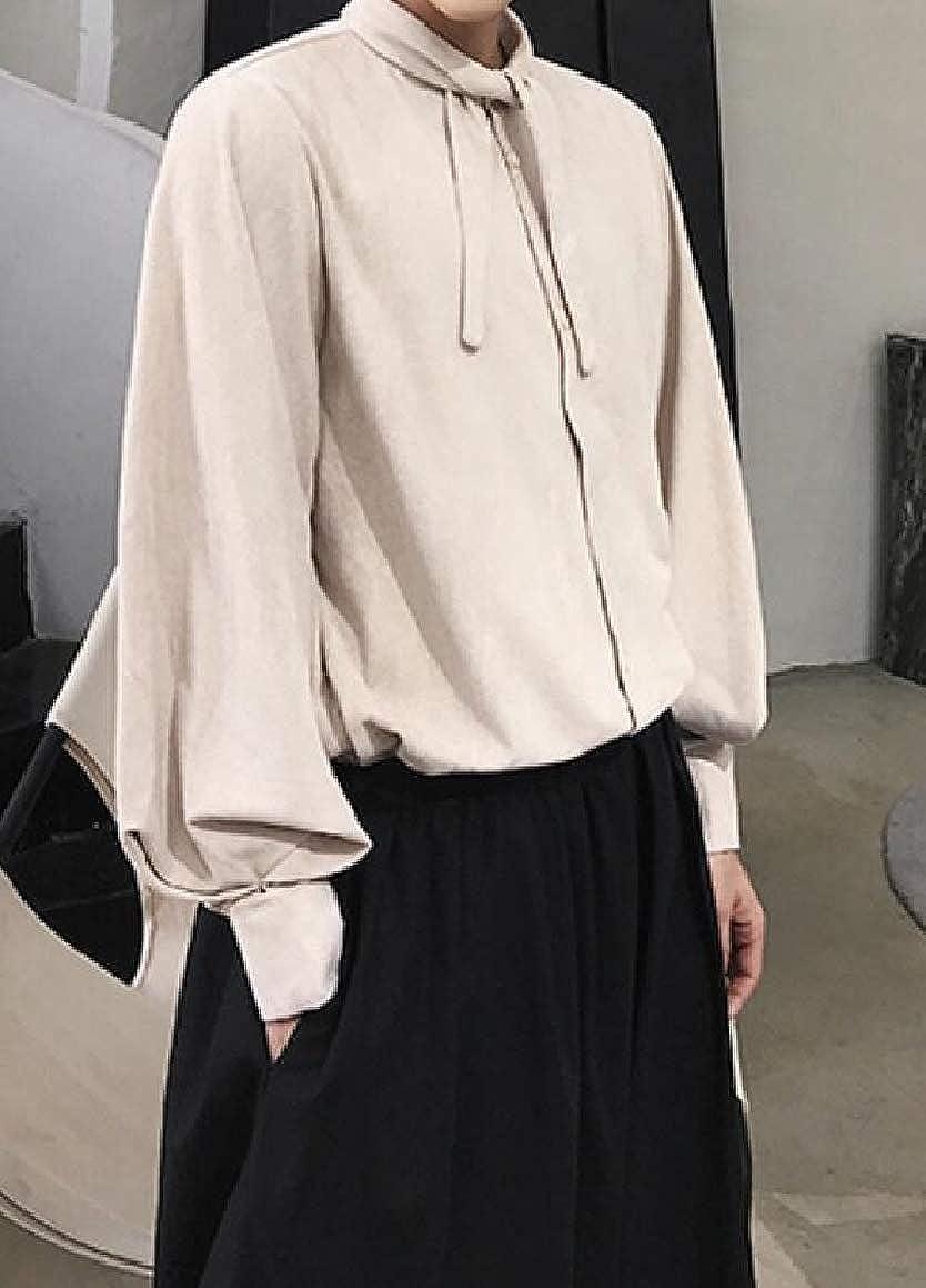 Gocgt Mens Casual Button Down Shirt Long Sleeve Fashion Shirt