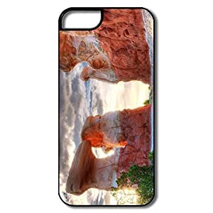 IPhone 5 Case, Utah Monument Valley Rocks Cover For HTC One M7 - White/black Hard Plastic