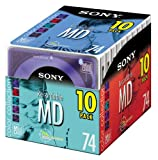 Sony 10MDW74E Color Collection Mini Discs 74 Minute (10-Pack) (Discontinued by Manufacturer)