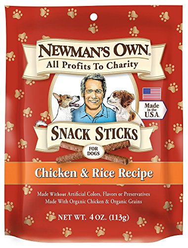 Newmans Own Organics Chicken and Rice Snack Stix for Dog, 4 Ounce – 12 per case. Review