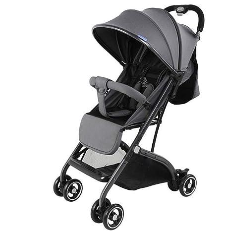 Cochecito de bebé alto paisaje reclinable ligero plegable paraguas cochecito cochecito carrito (Color : C