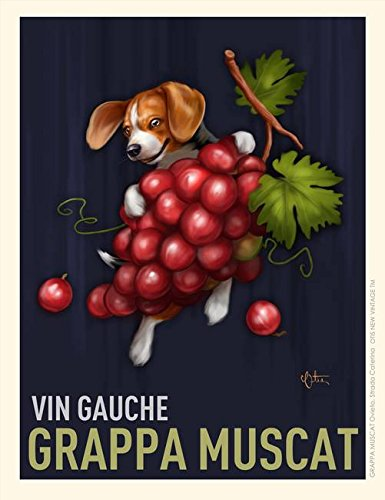 Grappa Muscat Vin Gauche by Chad Otis Art Print