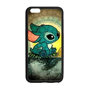 LeonardCustom Protective Hard TPU Rubber Coated Cover Case for iPhone 6 Plus 5.5 inch, Lilo and Stitch -LCI6PU380