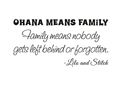 Ohana Means Family Family Means Nobody Gets Left Behind Or Forgotten