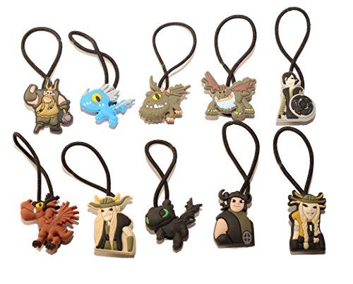 [AVIRGO 10 pcs Elastic Hair Bands Hairband Hairbands Ponytail Holders Set # 55-5] (Kids Toothless Night Fury Costumes)