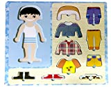 Wooden Toys Dress-Up Boy Puzzle Shape Board Game -For Kids