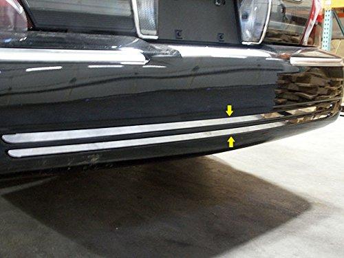 QAA FITS GRAND MARQUIS 1998-2011 MERCURY (2 Pc: Stainless Steel Rear Bumper Accent Trim, 4-door, LS, GS) RB38480