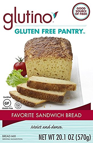 Glutino Gluten Free Pantry Favorite Sandwich Bread Mix, 20.1 oz., 6 Count